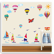 Sail Boat Air Balloon Wall Stickers Nursery Baby Children Bedroom Home Decal Art