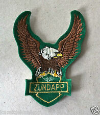 Vintage Sew-on Patch Zundapp, Eagle with Green Lining.