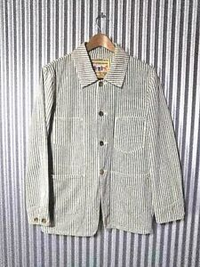 Levi's Vintage Clothing LVC 1920s Hickory Coverall Sack Coat Size 38