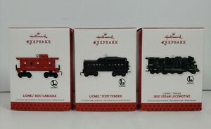 Hallmark Keepsake Ornament Lionel 2037 Steam Locomotive 2013 Set of 3 Ornaments