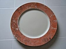 "Villeroy & Boch Siena 10 1/4"" Dinner Plate Salmon Orange Marble Great Condition!"