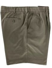 Golf Walking Casual Shorts Light Weight Brown Pleated Izod Mens Size 42