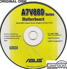 ASUS GENUINE VINTAGE ORIGINAL DISK FOR A7V880 Motherboard Drivers Disk M436