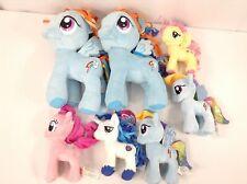 My Little Pony Aurora World & Funrise Toy 7 Plush Lot - Pinkie Pie, Rainbow Dash