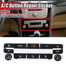 for Ford S-Max/ Mondeo MK4 AC Dash Button Repair Kit Decal Stickers Replacement