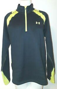 Under Armour NWT coldgear black fitted long sleeve 1/4 zip fleece top mens 2XL