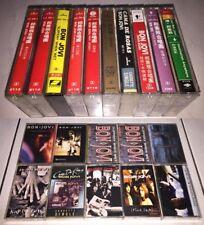 Bon Jovi 1984~1997 Taiwan OBI Cassette Tape x10 + Promo Insert + Patch + Sticker