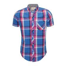 Ex Chainstore Next Men's Short Sleeve Check Cotton Summer Casual Shirt Tops