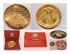Rare 1929-79 National Armored Car Assoc 50yr annv Medal .925 Sterling w/Holder