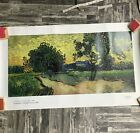"Van Gogh Museum Amsterdam Poster Print Landscape At Twilights Auvers 1890 37x21"""