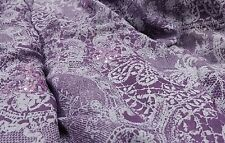New*plum/grey poly viscose &Thread embroidery & Floral Print  fabric 56'' wide