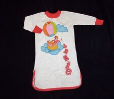 Vintage Annie Girls Size 2 2T Night Gown Sleep Shirt Hot Air Balloon Dog Sandy