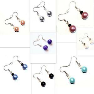 Womens Earrings Pearl Drop Dangle Hook