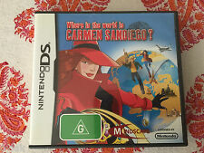 WHERE IN THE WORLD IS CARMEN SANDIEGO? NINTENDO DS 3DS 2DS GENUINE AUS PAL RARE