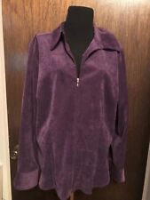 WOMEN'S STRETCH PURPLE JACKET WITH ZIPPER CLOSURE SIZE XL