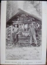 """Trophy TROUT on a String FISH CAMP Cabin Blank Greeting Note Card w Env 5""""x7"""""""