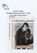 MARTIN HODGE SHEFFIELD WEDNESDAY 1983-1988 ORIGINAL HAND SIGNED MAGAZINE CUTTING