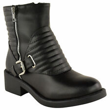 Zip Block Mid Heel (1.5-3 in.) Combat Boots for Women