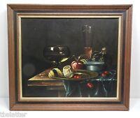 Andreas Gyula Bubarnik Still Life Oil on Canvas Listed Artist Hungary B. 1936