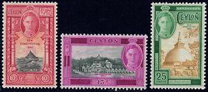 1947 Ceylon SC# 297-299 - New Constitution of 1947  - M-H