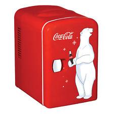 Coca Cola Mini Fridge Portable Home Bar Food Cooler Heater Personal Refrigerator