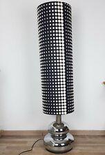 Doria Bodenlampe Stehlampe Chrom Kugel schwarz weiß Lampenschirm vintage 70er