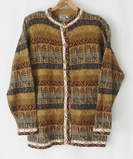 The Alpaca Connetion Hand made in Peru Sweater Cardigan Size L Multi-color