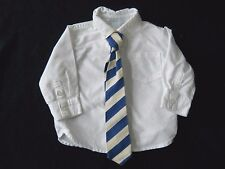 Boys Janie & Jack White shirt & tie / Easter / Church Formal wedding/6 to 12 m