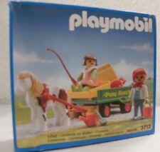 Playmobil Ponywagen 3713 von 1992 Neu & OVP Ponyhof Kutsche Pony
