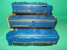 LIONEL O Gauge #230 CHESAPEAKE & OHIO ALTO A+B+A UNITS Circa 1961 Gauge 0