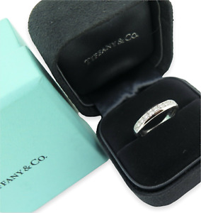 .Auth Tiffany & Co Lucida Platinum 0.65ct Radiant Diamond Ring Sz K.5 Val $10460