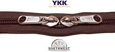 YKK Nylon Coil Zipper Tape # 10 Walnut 25 yards with 50 Nickle Zipper Sliders