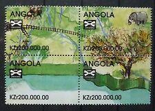 Angola 1998 4er Zdr Block ** Transport Verkehr Eisenbahn Lokomotive