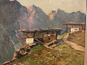 Georg ARNOLD-GRABONÉ (1896-1982) Ölgemälde, Bauernhof in Tirol   ca. 93 x 103 cm