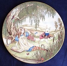 "1981 Alice in Wonderland & White Rabbit 8.5"" Decorative Porcelain Plate  L3"