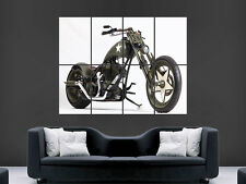 MOTOCYCLE  BIKE CHOPPER ARMY CUSTOM USA  HUGE LARGE WALL ART POSTER PICTURE