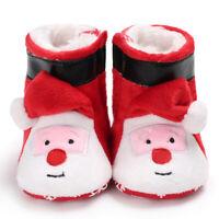 Unisex Baby Cozy Fleece Booties Merry Christmas Newborn Shoes Toddler Footwear