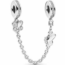 Pandora Decorative Butterflies Safety Chain Charm 797865CZ - S925 ALE - Genuine