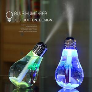 Bulb Humidifier Air Ultrasonic LED USB Aroma Essential Oil Diffuser Atomizer CAR