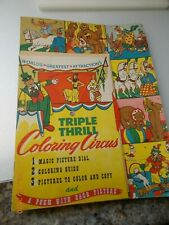 Triple Thrill Coloring Circus from Whitehall Publishing Co., 1946