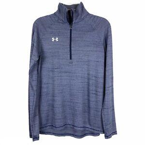 Under Armour Slate Blue HeatGear 1/4 Zip Loose Jacket Womens Size M
