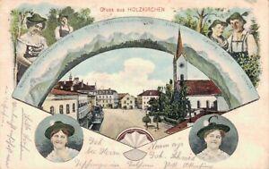55425- Künstler Ak Eugen Felle Gruß aus Holzkirchen Landkreis Miesbach 1908