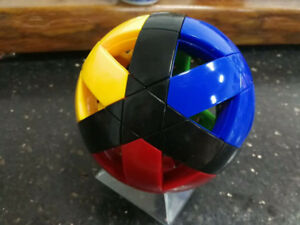 DaYan Twelve Axis magic Ball Twist Puzzle Black Four-colored No.1 Stickerless