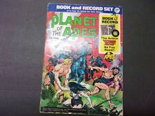 Vintage 1974 Planet of the Apes Comic Book & Record Set, 45 Rpm,