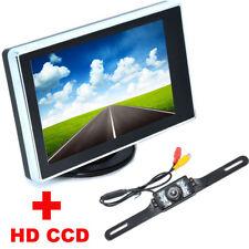 Rétroviseur avec Ecran TFT LCD 3.5 pouces + Caméra de recul pour Voiture HD CCD
