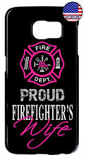Proud Firefighter's Wife Rubber Case For Samsung Galaxy S8 Plus S7 Edge S6 S5 S4