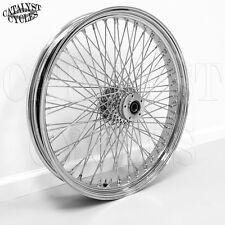 """23"""" Chrome Wheel for Harley 80 Spoke Wheel & Billet Hub Dual Disc for 1"""" Axle"""