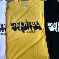 Capitol Theatre T Shirt nj icon Hand printed Vintage Style Rock S-5Xlg yellow