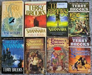 Terry Brooks Shannara Titles Mixed 8 Book Lot PB Jerle High Druid Genesis etc