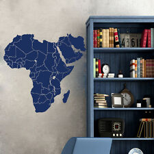 Wall Decals  Map of Africa Continents Countries World Map Stady Home Decor ML168